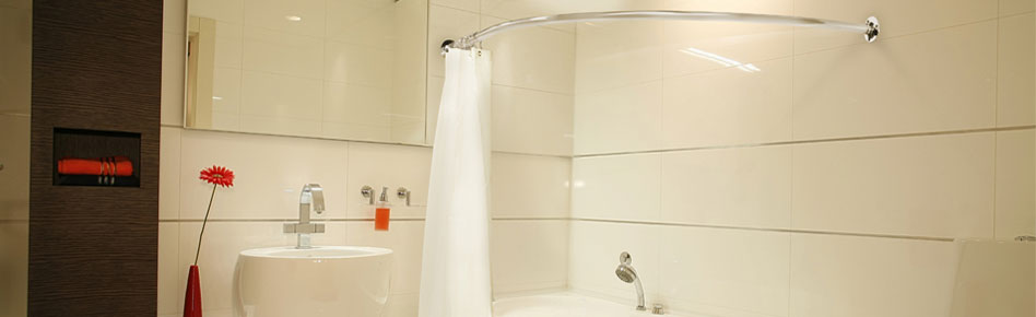 corner bath shower curtain rails from warmer ideas 31 08 corner bath shower curtain rail csr1