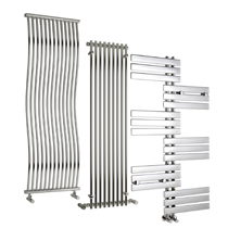Tall Chrome Contemporary Vertical Radiators