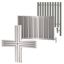 Wide Chrome Electric Radiators