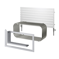 TR Wide Chrome Electric Towel Rails