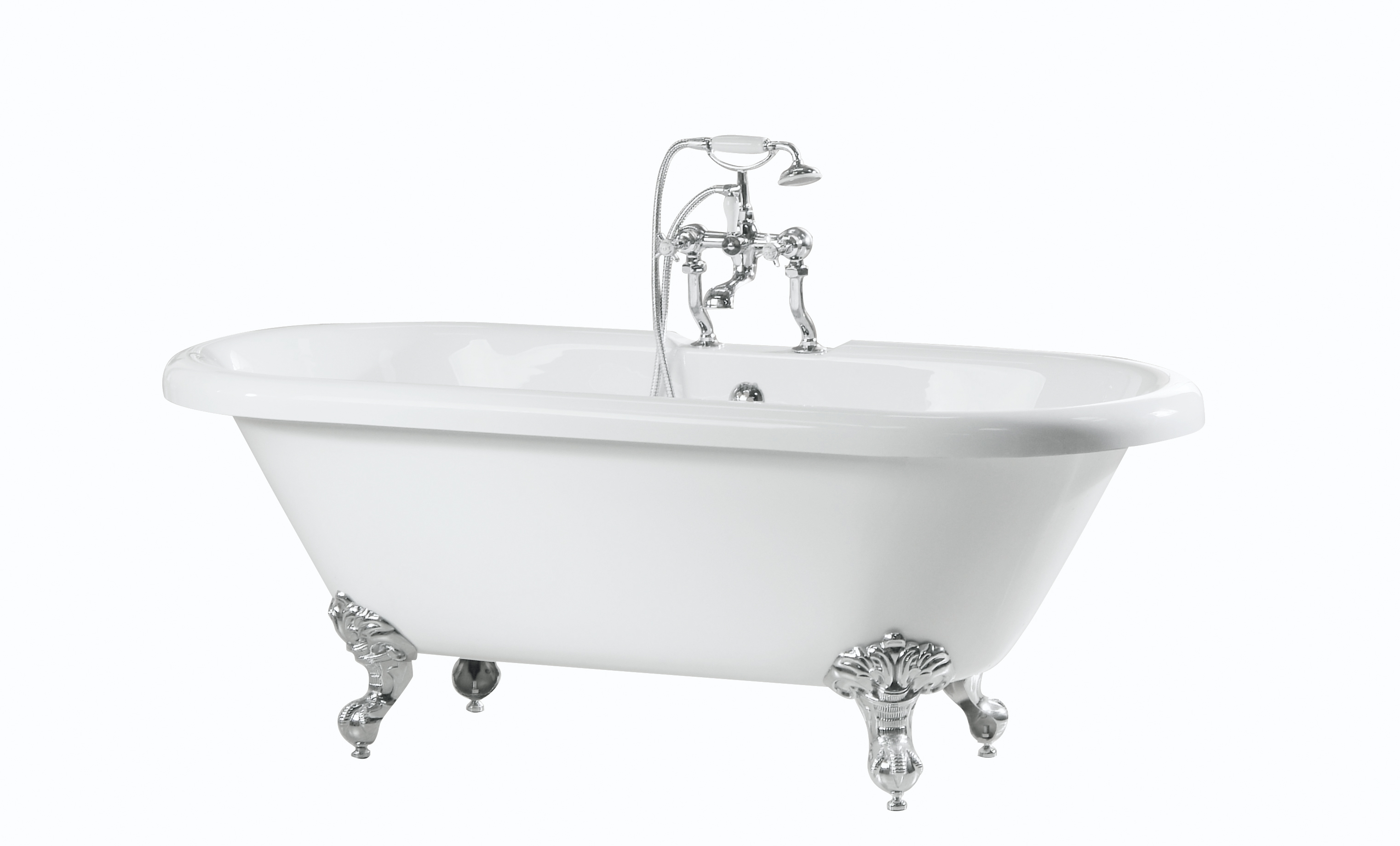 Double ended roll top bath baths and accessories for Best bathtub accessories