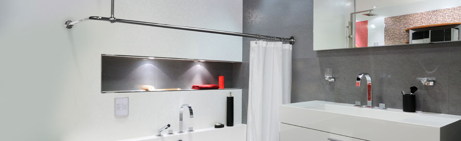 L-shaped Shower Curtain Rails from Warmer Ideas 31 07 2018