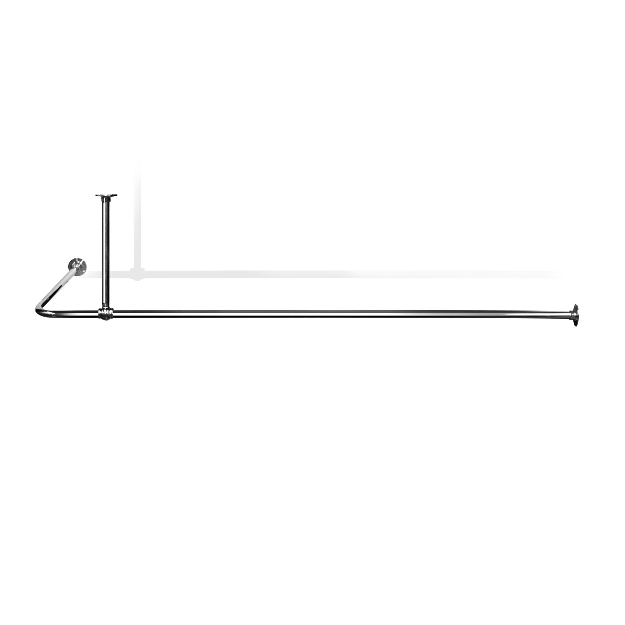 L Shaped Shower Curtain Rail Lsr4 Shower Curtain Rails