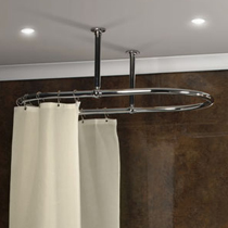 Oval Curtain Rail  Shower Curtain Rails
