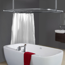 Rectangular Rails  Shower Curtain Rails